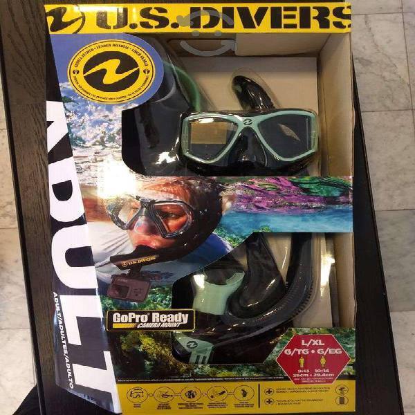 Us Divers, Set De Snorkel Adulto Visor AletasGopro