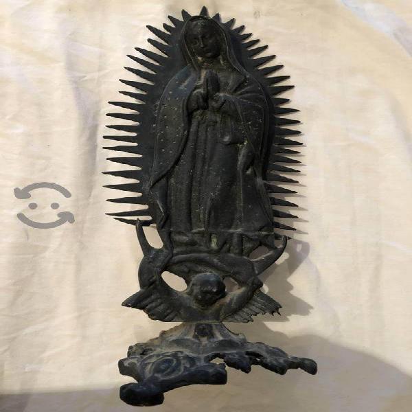 Virgen de guadalupe de bronce