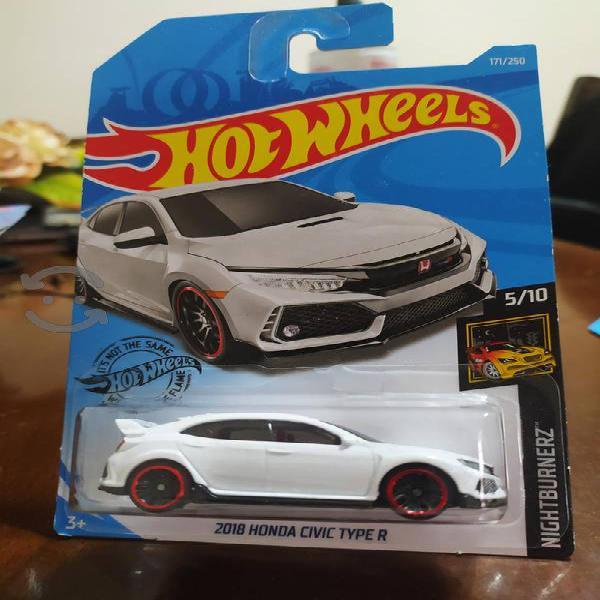hot wheels 2018 honda civic type r nuevo