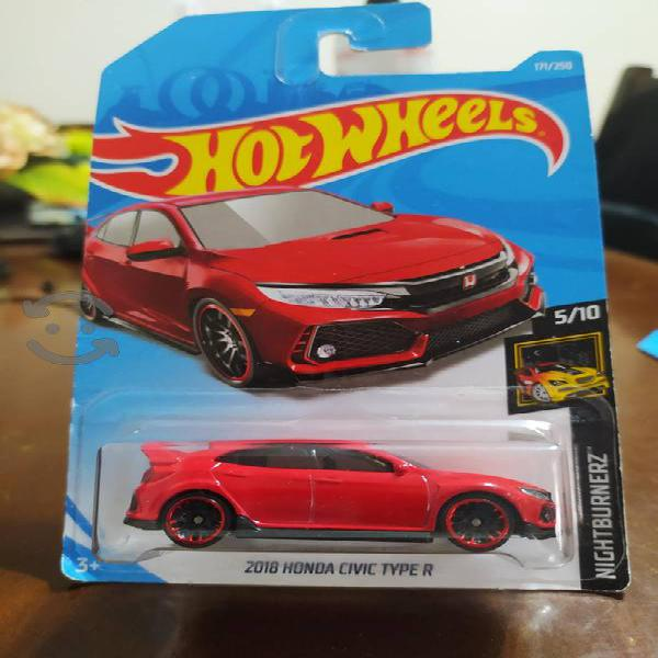 hot wheels 2018 honda civic type r rojo nuevo