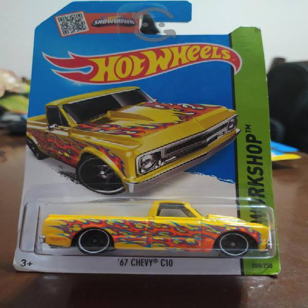 hot wheels 67 chevy c10 hw workshop nuevo