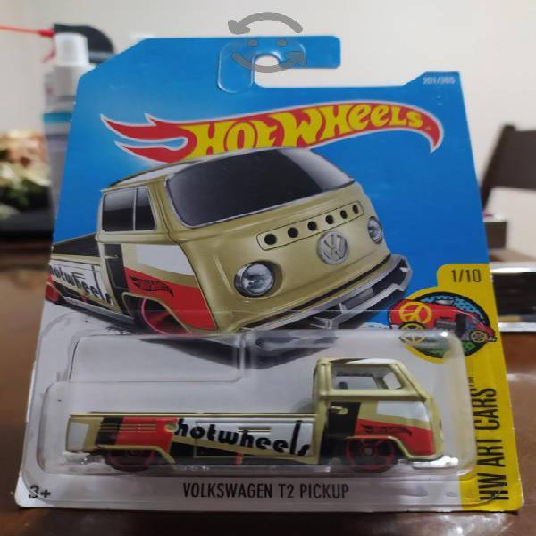 hot wheels volkswagwn t2 pickup hw art cars nuevo