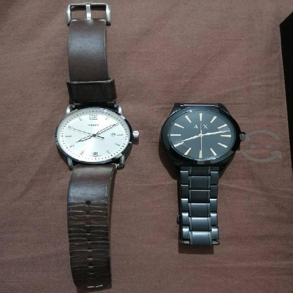 reloj armani exchange fossi gshock