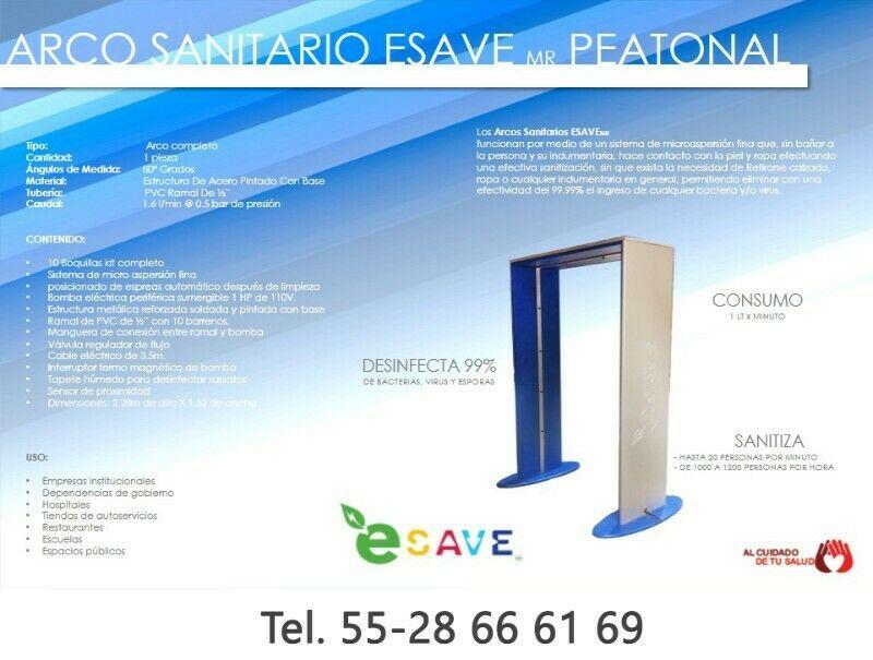 Arco Sanitizante Desinfectante anti Virus y Bacterias