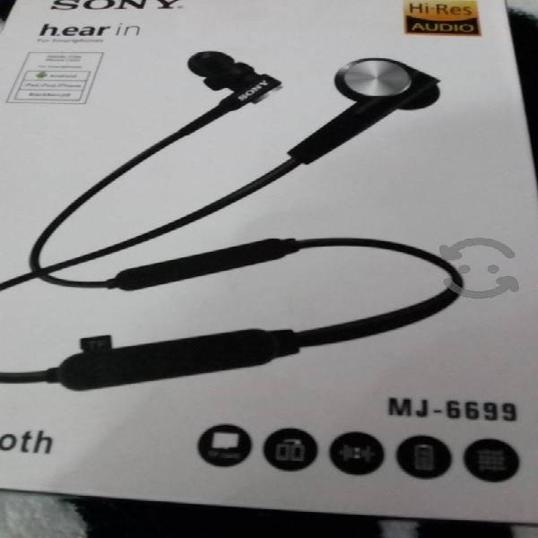 Audífonos Bluetooth Sony lector SD nuevos