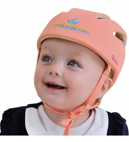 Casco Protector De Seguridad Para Bebes Y Niños Rosa B5001