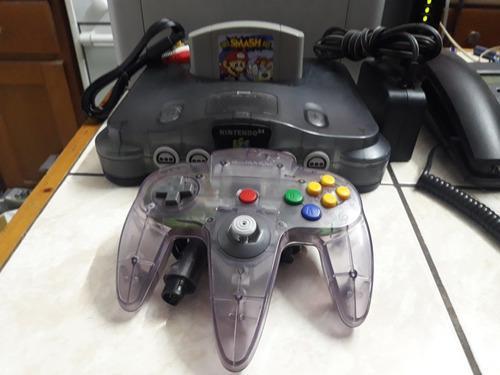 Consola Nintendo 64 Con Super Smash Bros