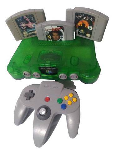 Consola Nintendo 64 Verde Jungle Green Con 007