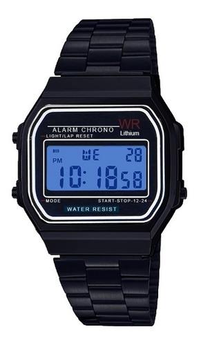 Reloj Hombre Negro Metal