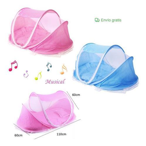Tienda Mosquitero Musical Portatil Plegable Para Bebe
