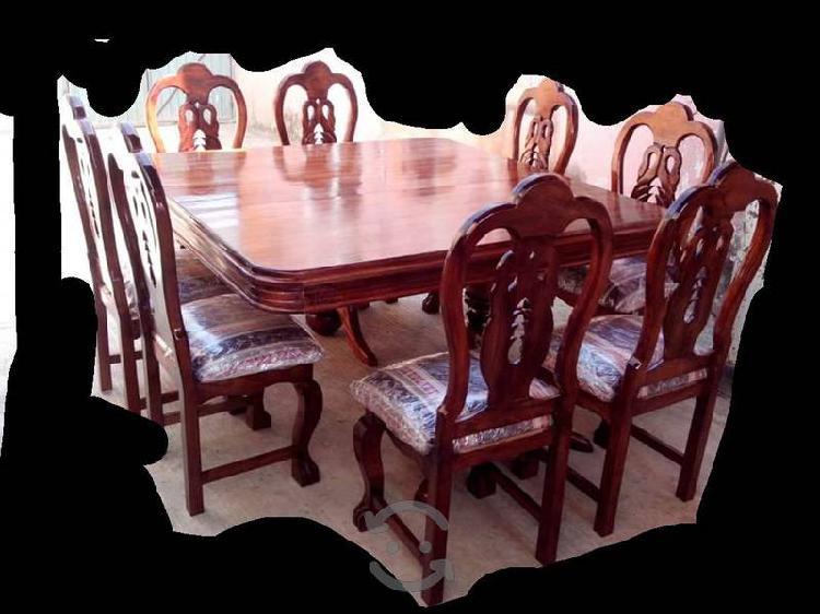 comedor cuadrado 8 sillas con bufetero en cedro