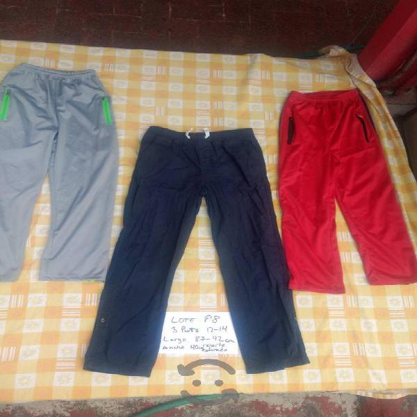 lote P8 son 3 pans pantalón de niño talla 12 14