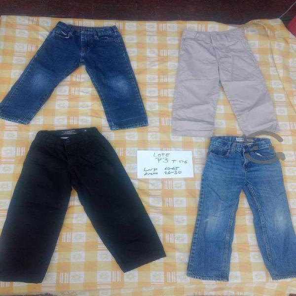 lote p3 4 pantalones talla 5 y 6 Wrangler old navy