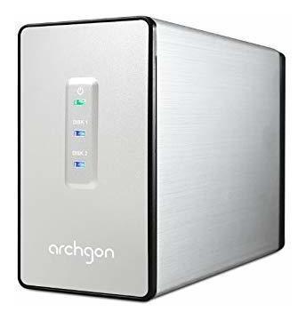 Archgon Mini Raid Usb 3.0 Caja De Aluminio Para Disco Duro D