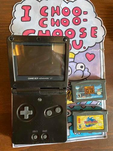 Nintendo Gameboy Advance Sp Negro Consola Gba