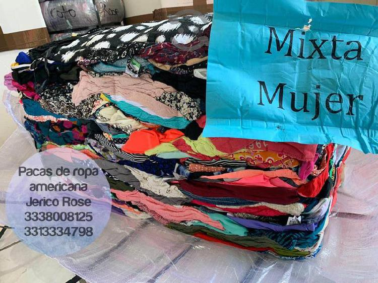 Pacas y lotes de ropa americana Guadalajara