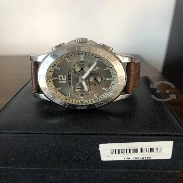 Reloj Náutica Crogronafo y fechador, piel