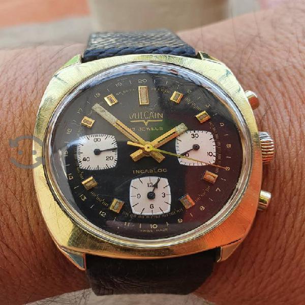 Reloj Vulcain Cuerda manual Valjoux suizo/Vta.Cmb