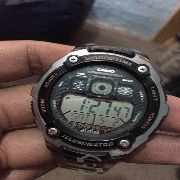 Reloj casio de acero inoxidable