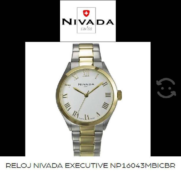 Reloj nuevo hombre nivada swiss executive