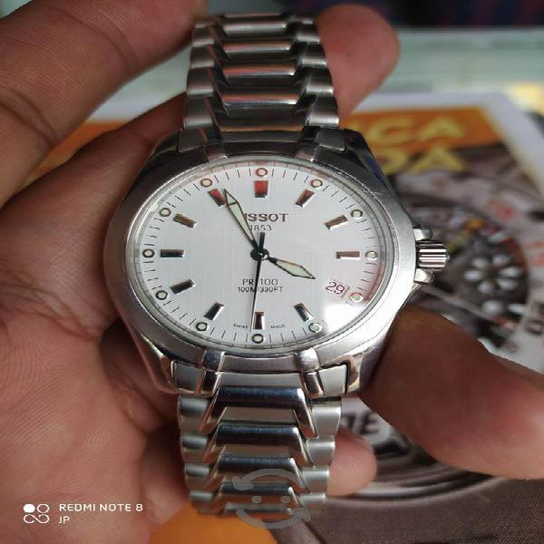 Tissot reloj original pr100 Swiss extensible largo