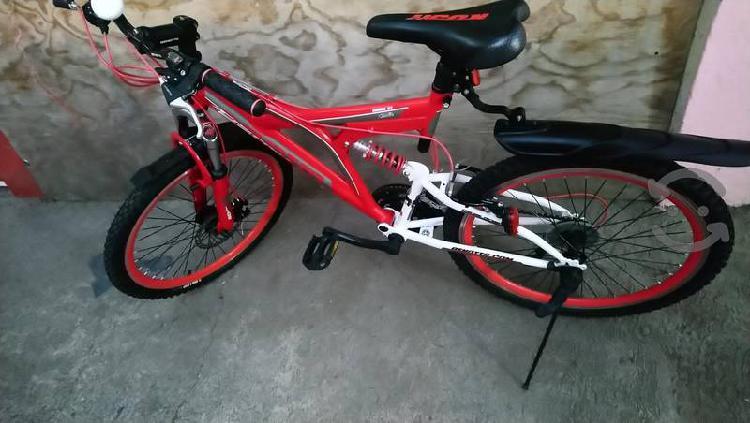 bicicleta benotto Rush Rodada 24 roja / blanco