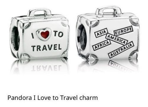 Charm Pandora Maleta I Love To Travel Plata 925 100%