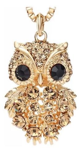 Collar Buho Grande Oro Lam 14k Cristales + Estuche