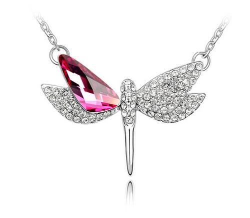 Collar Con Cristales Ocean Heart Oh16-188-baño De Oro