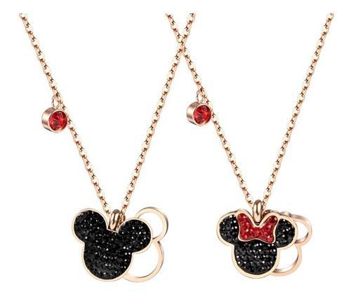 Collar De Mickey Mouse Y Minnie Mouse Con Swarovski