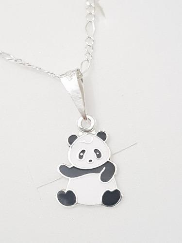 Collar De Oso Panda Y Cadena De Plata 925 Envio Gratis