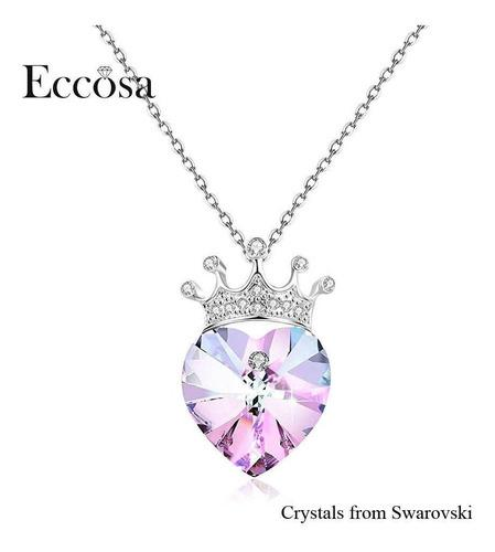 Collar Dije Corazón De Princesa Cristal Swarovski Sw088