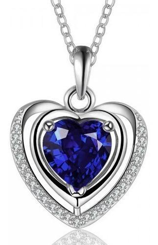 Dije Con Cristales Ocean Heart Oh16-429 Baño De Oro