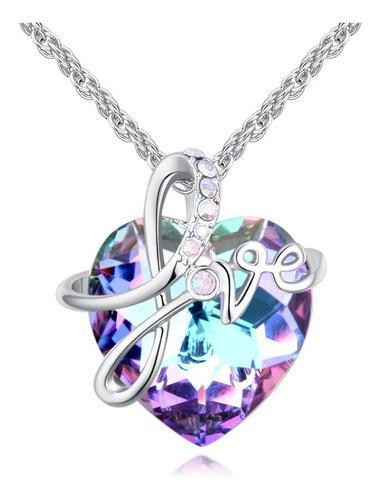 Dije Con Cristales Ocean Heart Oh18-75 Baño De Oro