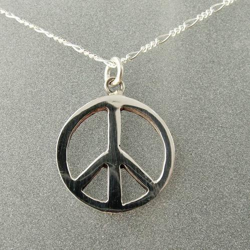 Dije De Amor Y Paz Mediano En Plata Ley 0.925