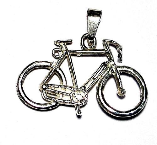 Dije De Bicicleta Deportiva En Plata Fina Ley.925