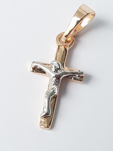 Dije De Cristo De Oro Rosa Y Blanco Laminado 1.5 Cm Envio Gr