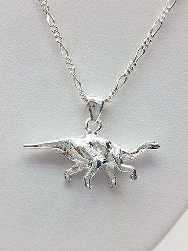 Dije Dinosaurio Plata Ley.925 Incluye Cadena