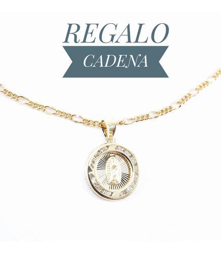Hermosa Medalla Virgen Oro 10k Medalla Y Cadena Bautizo