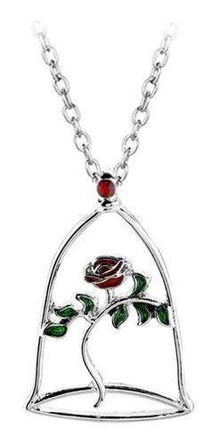 Hermoso Collar Rosa La Bella Y La Bestia De Coleccion