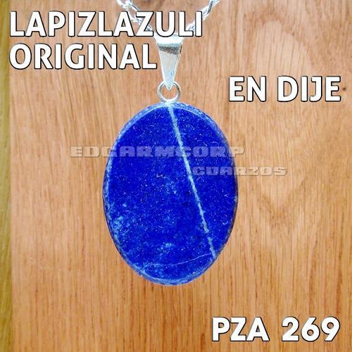 Joyeria Trc25 Dije De Ovalo De Lapizlazuli Con Plata Pza 269