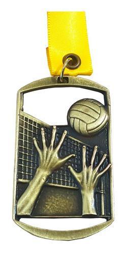 Lote 20 Pzs Medalla Metálica Para Voleibol