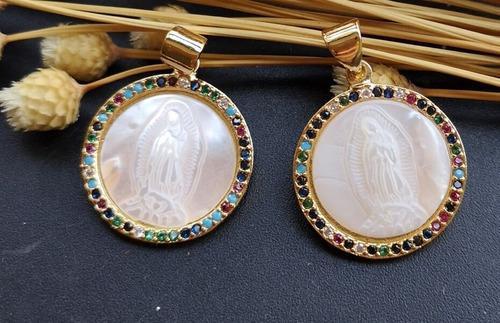 Medalla Virgen De Guadalupe De Madre Perla