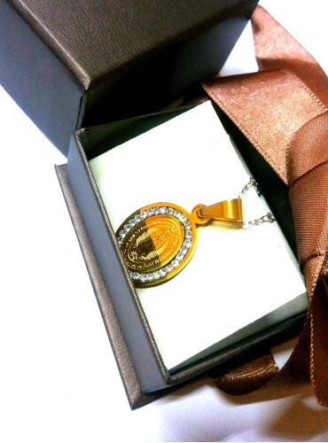 Medalla Virgen De Guadalupe Oro 18 Kilates Lam. +cadena+env.