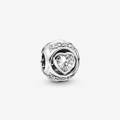Pandora Charm Corazon Brillante En Relieve