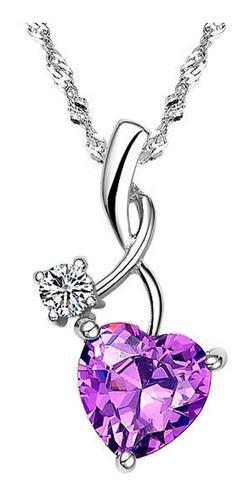 Regalo Collar Princesa Rapunzel Corazón Amor Swarovski