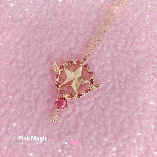 Sakura Card Captor Dije Collar Bastón Estrella