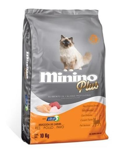 Alimento Para Gato Minino Plus 10kg