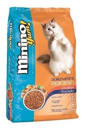 Alimento Para Gato Minino Yum Pescado Y Camaron 20kg