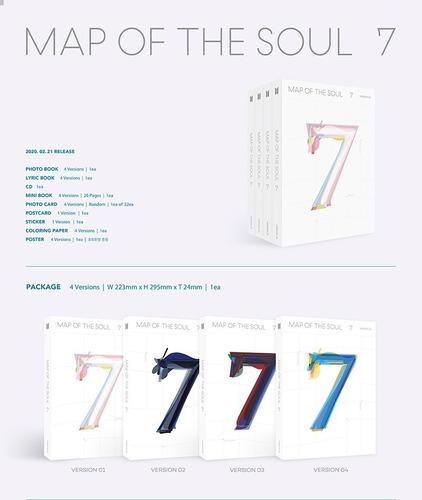 Bts - Map Of The Soul 7 Set Paquete 4 Álbumes Original Kpop